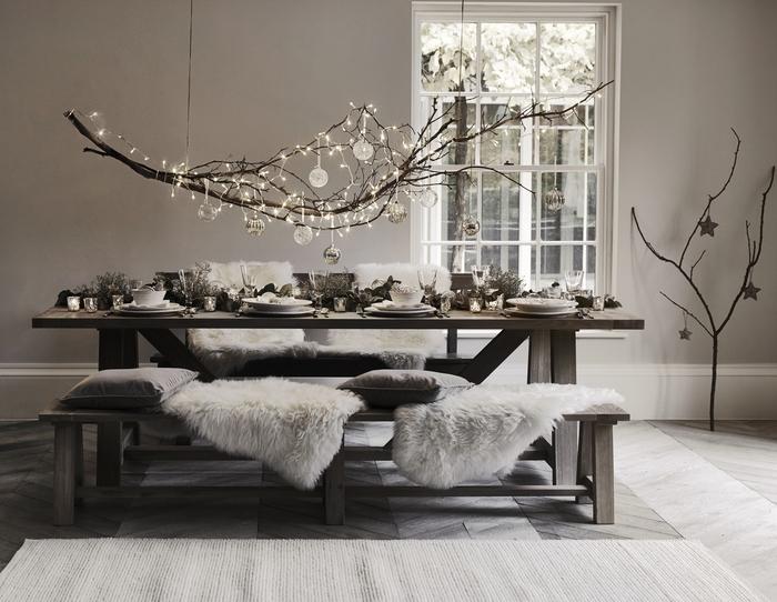20 ideas para decorar con ramas secas en Navidad